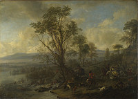 tablou philips wouwermans - a stag hunt