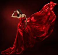 Tablou canvas lady in red (1)