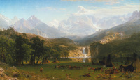 Tablou canvas albert bierstadt - the rocky mountains