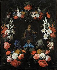 Tablou canvas flori, reproducere pictura (127), 1675