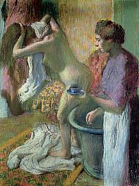 tablou edgar degas - cup of tea, 1883