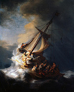 tablou rembrandt - the storm on the sea of galilee (1633)
