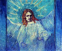 tablou van gogh - half figure of an angel (after rembrandt)