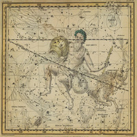 tablou star constellation, astrology map, 1820 (18)