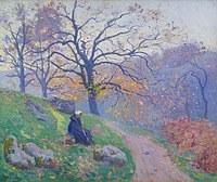 tablou paul madeline - the road in diben, 1910