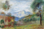 Tablou canvas renoir - view of the outskirts of cagnes, 1905