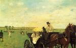 tablou 1872  edgar degas - aux courses en provunce, la voiture au course