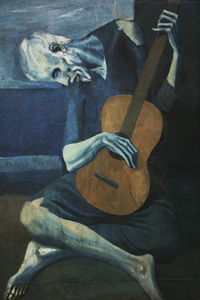 tablou pablo picasso - the old guitarist