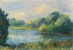 Tablou canvas renoir - the banks of the river