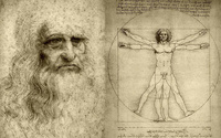 Tablou canvas leonardo da vinci - uomo vitruviano (2)