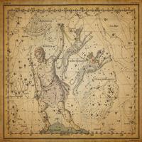 tablou star constellation, astrology map, 1820 (4)