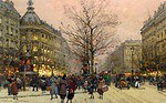 tablou eugene galien laloue - le grand boulevard, paris