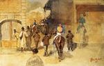 tablou 1866  edgar degas - la sortie du pesage