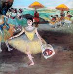tablou degas - la danseuse au bouquet saluant