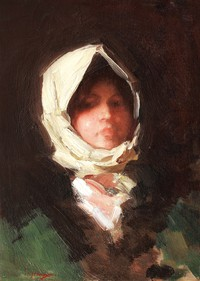 tablou nicolae grigorescu -  fata din rucar