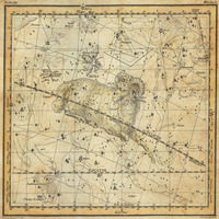tablou star constellation, astrology map, 1820 (10)