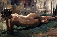 tablou arnold beauvais - reclining nude