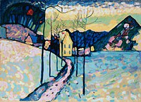 tablou kandinsky vasily - winter landscape