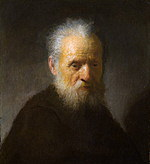 tablou rembrandt - portrait of an elderly man with a beard