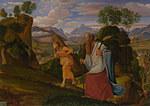 tablou johann heinrich ferdinand olivier - abraham and isaac