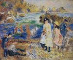 Tablou canvas Renoir - children by the sea in guernsey, 1883