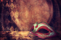 Tablou canvas masca, vintage (4)