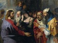 tablou rubens - le christ et la femme adultere