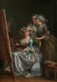 tablou adelaide labille guiard - self portrait with two pupils