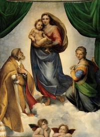 tablou rafael - madonna sixtina 1513