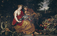 tablou rubens - ceres and pan (together with frans snyders) (1615)