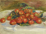 tablou renoir - still life with strawberries, 1914
