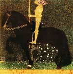 Tablou canvas Gustav Klimt - gold knight
