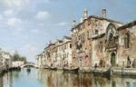 tablou venetian canal scene