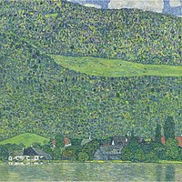 Tablou canvas Gustav Klimt - littsberg on the attersee (1914)