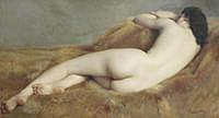 tablou paul sieffert - reclining nude (nud)