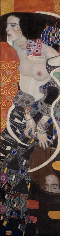 tablou gustav klimt  - judith ii,  salomè, 1907