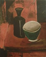 tablou picasso- green bowl and black bottle