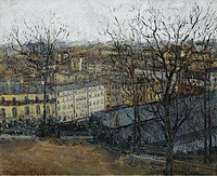 tablou maurice utrillo - paris, view of saint pierre square, 1908