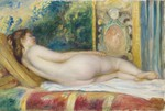 tablou renoir - female nude on canape