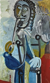 tablou pablo picasso   man with pipe