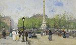 tablou eugene galien laloue - place de chatelet (3), paris
