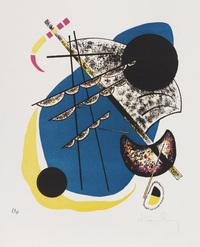 tablou wassily kandinsky - small worlds ii , 1922
