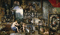 Tablou canvas rubens - allegory of the five senses. vision (together with jan brueghel the elder) (1617)
