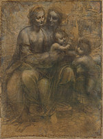 tablou leonardo da vinci - the leonardo cartoon
