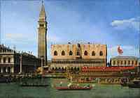 Tablou canaletto - the bucintoro at the molo on ascension day