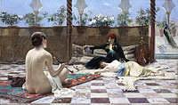 tablou ferdinand max bredt - turk, 1893