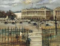 tablou marcel dyf - paris, place de la concorde, 1933