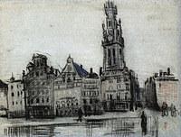Tablou canvas van gogh - the grote markt, 1885