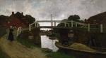 tablou jacob hendricus maris - canal near rijswijk