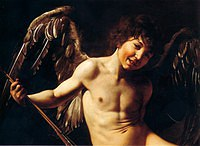 Tablou canvas caravaggio - cupidon (detail)